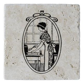 Dessous-de-plat Cuisson vintage de femme au foyer
