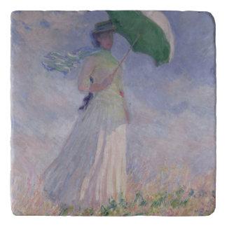 Dessous-de-plat Femme de Claude Monet | avec un parasol tourné à