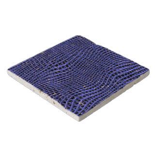 Dessous-de-plat Filet de scintillement en métal, bleu