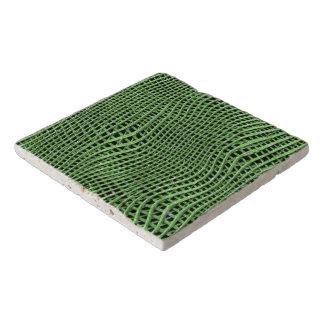 Dessous-de-plat Filet de scintillement en métal, vert