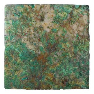 Dessous-de-plat Image en pierre minérale verte