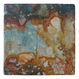 Dessous-de-plat Motif coloré de pierre de jaspe