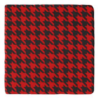 Dessous-de-plat Motif rouge et noir de pied-de-poule