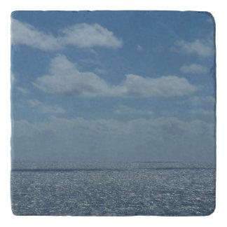 Dessous-de-plat Océan ensoleillé de bleu de mer des Caraïbes