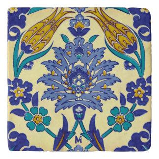 Dessous-de-plat Ornement en céramique de cru de style d'Azulejo de