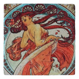 Dessous-de-plat Peinture vintage de Nouveau d'art de danse