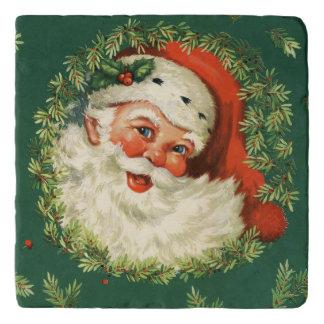 Dessous-de-plat Père Noël gai vintage