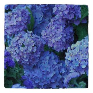 Dessous-de-plat Pierre florale d'hortensias bleus