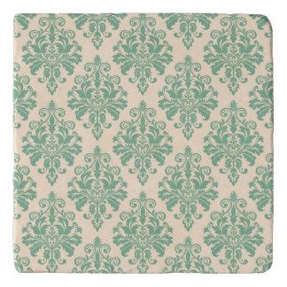 Dessous-de-plat Rétro motif vintage élégant de damassé