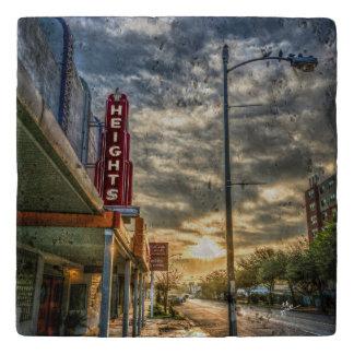 Dessous-de-plat Théâtre vintage de 19ème rue de tailles de Houston