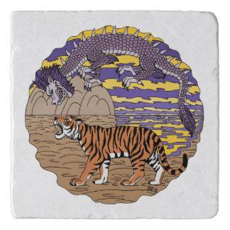 Dessous-de-plat Tigre et dragon