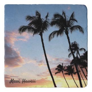 Dessous-de-plat Trépied en pierre de palmiers hawaïens