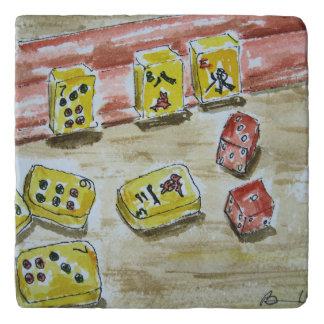 Dessous-de-plat Trépied en pierre d'heure-milliampère Jongg
