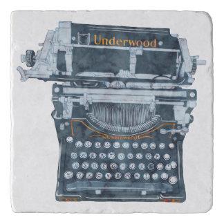 Dessous-de-plat Trépied vintage de machine à écrire