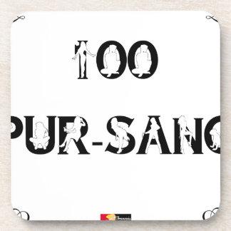 Dessous-de-verre 100 PUR-SANG - Jeux de Mots - Francois Ville