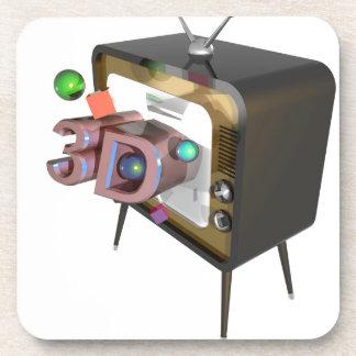 DESSOUS-DE-VERRE 3D TV