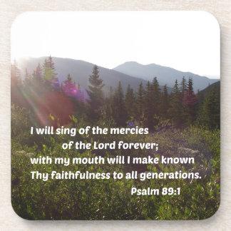 Dessous-de-verre 89:1 de psaume je chanterai des pitiés du seigneur