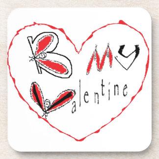 Dessous-de-verre Abeille mon valentine