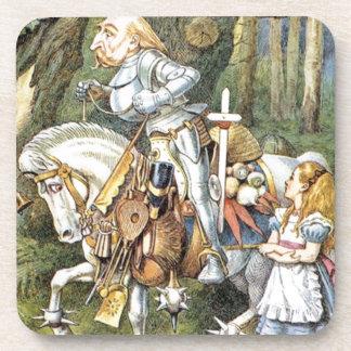 Dessous-de-verre Alice et le chevalier blanc