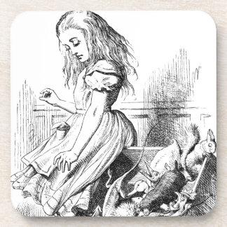 Dessous-de-verre Alice et une boîte d'animaux