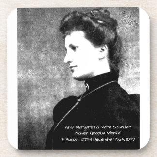 Dessous-de-verre Alma Margaretha Maria Schindler Mahler Gropius Wer