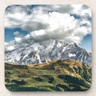 Dessous-de-verre Alpes de dolomites, Italie