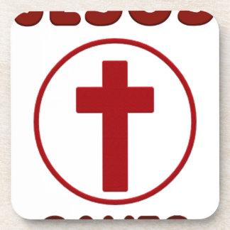 Dessous-de-verre Amours de Jésus, religion Cross.pn de