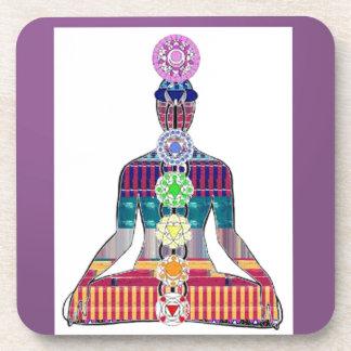 Dessous-de-verre AMUSEMENT de la paix NVN630 de méditation de yoga