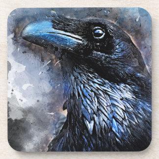 Dessous-de-verre #animals de #bird de #crow d'art de corneille