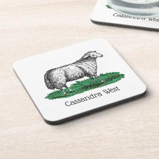Dessous-de-verre Animaux de ferme vintages de brebis de moutons