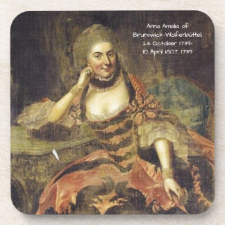 Dessous-de-verre Anna Amalia de Brunswick-Wolfenbuttel 1739