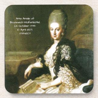 Dessous-de-verre Anna Amalia de Brunswick-Wolfenbuttel 1739-1807