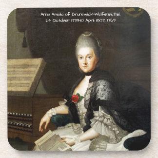 Dessous-de-verre Anna Amalia de Brunswick-Wolfenbuttel 1769