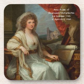 Dessous-de-verre Anna Amalia de Brunswick-Wolfenbuttel 1788