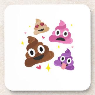 Dessous-de-verre Arc drôle mignon Cutie Poo - dunette Emoji de rose