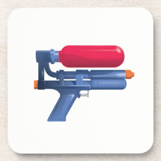 Dessous-de-verre Arme à feu d'eau bleue et rouge