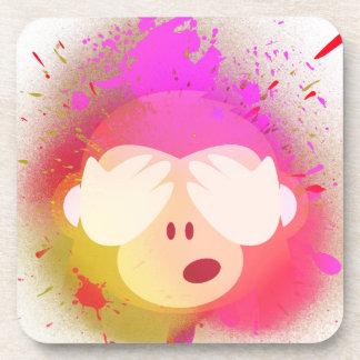 Dessous-de-verre Art créatif superbe de peinture de jet d'Emoji de