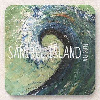 Dessous-de-verre Art du Golfe du Mexique - île de Sanibel