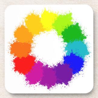 Dessous-de-verre Artiste de roue de couleur et professeur d'art