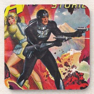 Dessous-de-verre Astronaute avec deux Rayguns