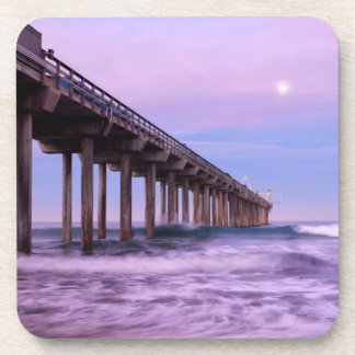 Dessous-de-verre Aube pourpre au-dessus de pilier, la Californie