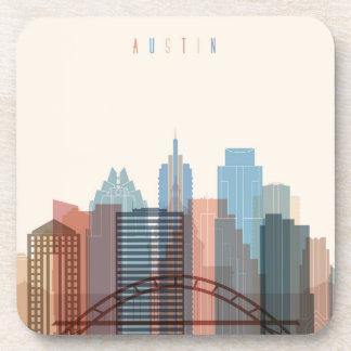Dessous-de-verre Austin, horizon de ville du Texas |