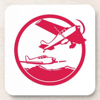 Dessous-de-verre Avions de voilure fixe enlevant le cercle rétro