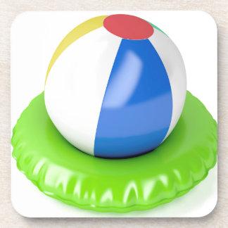 Dessous-de-verre Ballon de plage et anneau de bain