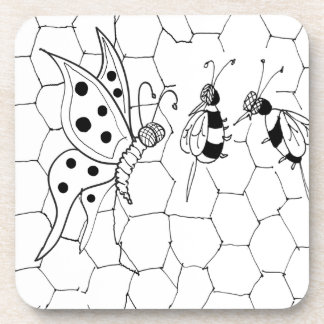 Dessous-de-verre Bande dessinée 8922 de papillon