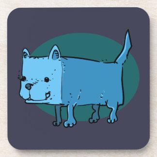 Dessous-de-verre bande dessinée drôle de chien de rectangle