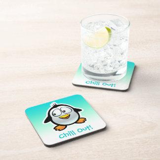Dessous-de-verre Bande dessinée fraîche customisée de pingouin