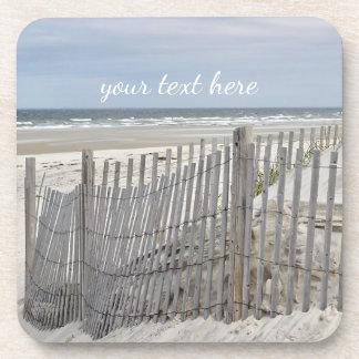Dessous-de-verre Barrière patinée de plage et dune de sable