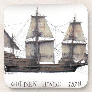 Dessous-de-verre Bateau d'or de 1578 Hinde