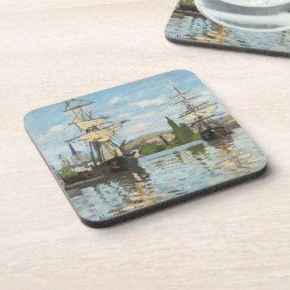 Dessous-de-verre Bateaux de Claude Monet | montant sur la Seine à